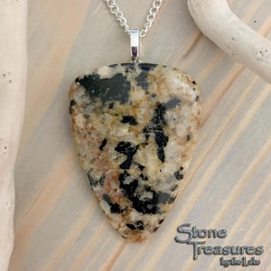 Lake Michigan Granite Pendant With Necklace - Stone Treasures by the Lake