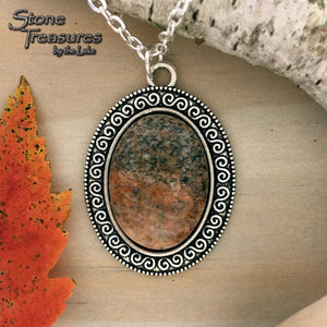 Lake Michigan Granite Stone Pendant - Stone Treasures by the Lake
