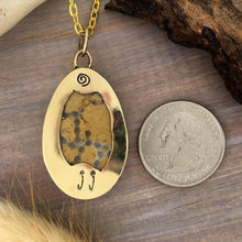 Load image into Gallery viewer, Lake Michigan Halysite Fossil Pendant with Necklace - Stone Treasures by the Lake