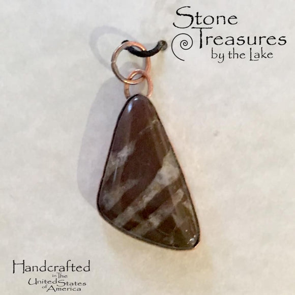 Lake Michigan Jasper Pendant - Stone Treasures by the Lake