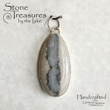 Load image into Gallery viewer, Lake Michigan Seam Agate Pendant - Stone Treasures by the Lake
