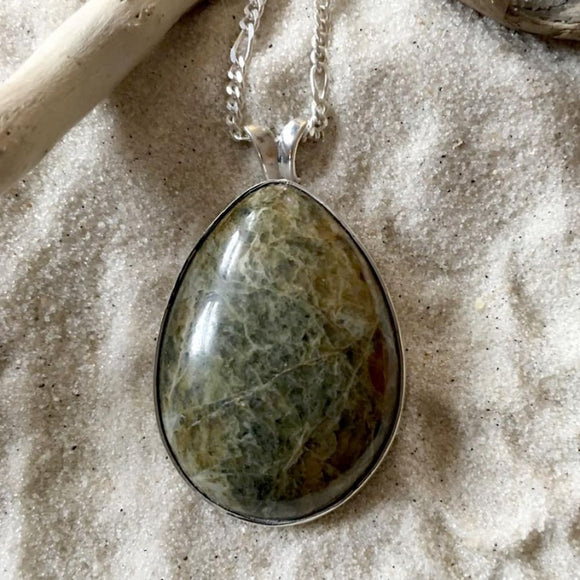 Lake Michigan Unaktie Pendant with Necklace - Stone Treasures by the Lake