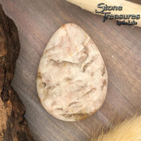 Lake Superior Feldspar Cabochon - Stone Treasures by the Lake