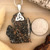 Michigan-Shaped Granite Pendant - Stone Treasures by the Lake