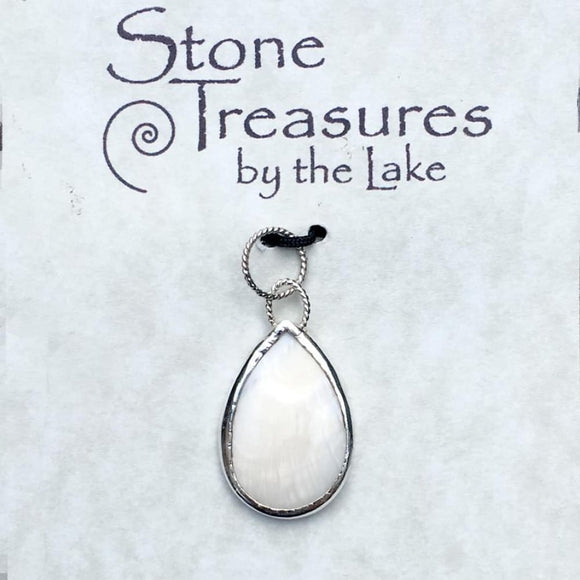 Mother of Pearl Pendant - Stone Treasures by the Lake