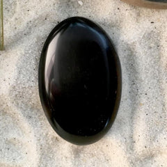 Oval Mahogany Obsidian Cabochon - Stone Treasures by the Lake