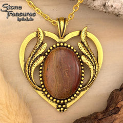 Pakistani Onyx Heart Pendant - Stone Treasures by the Lake