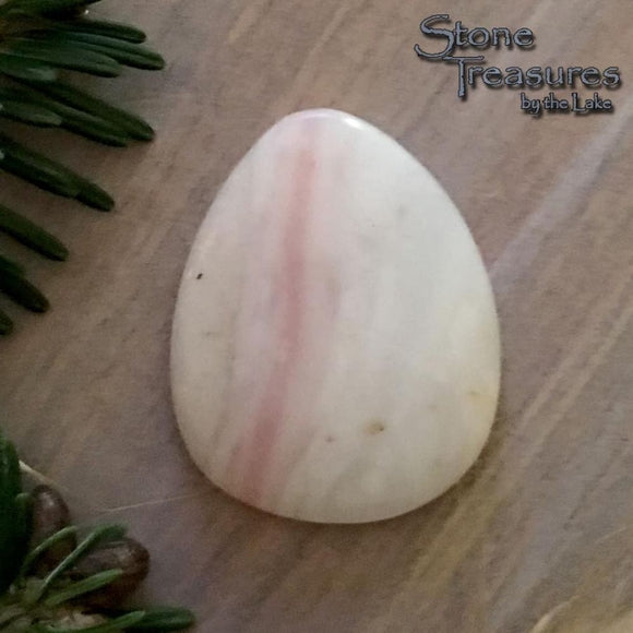Peruvian Pink Opal Teardrop Cabochon - Stone Treasures by the Lake