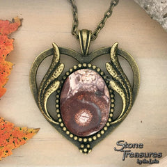 Poppy Jasper Pendant Necklace - Stone Treasures by the Lake