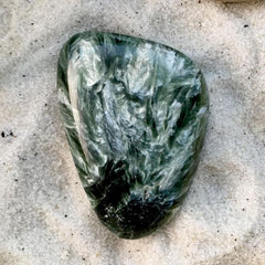 Seraphinite Stone Cab - Stone Treasures by the Lake