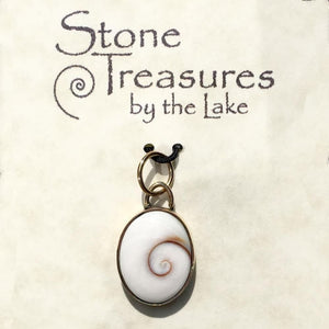 Shiva Shell Pendant - Stone Treasures by the Lake