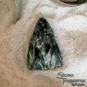 Triangular Seraphinite Stone Cab  - Stone Treasures by the Lake