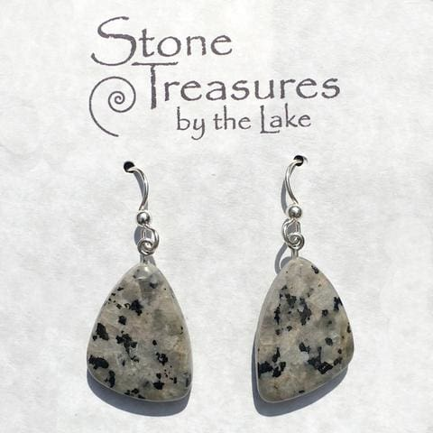 Dalmatian Stone Earrings - Stone Treasures by the Lake