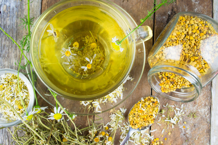 Chamomile tea is well know to help you get to sleep quickly