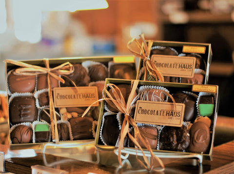 [Truffles]-[dark chocolate]-[milk chocolate]-[ganache]-[gourmet chocolates]-[Amana Colonies]-The Chocolate Haus