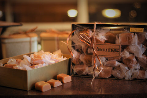 Gold box of wrapped Soft Caramels