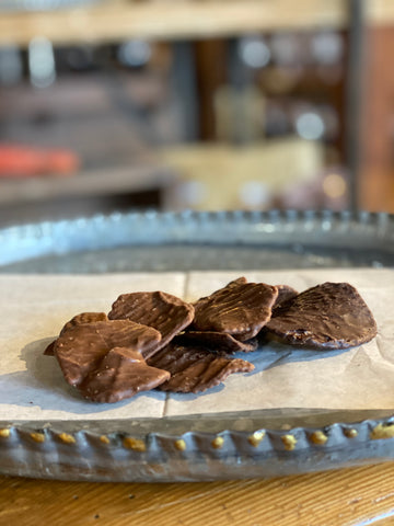 gourmet chocolate potato chips  from the Chocolate Haus in the Amana Colonies, iowa