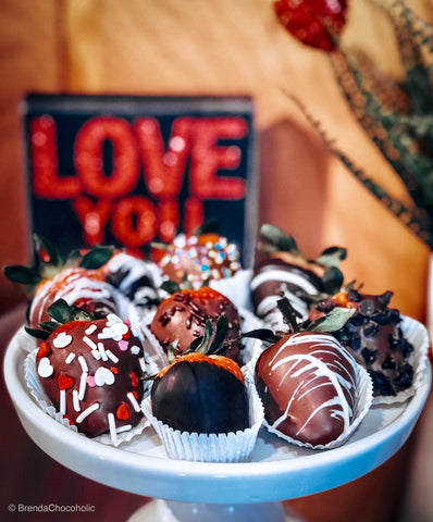 gourmet quality chocolate strawberries, handmade Amana Colonies, Iowa
