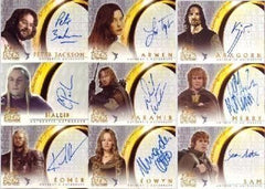 Lord of the Rings autograph cards