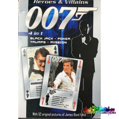 007 James Bond Collectible Heroes And Villains Card Deck