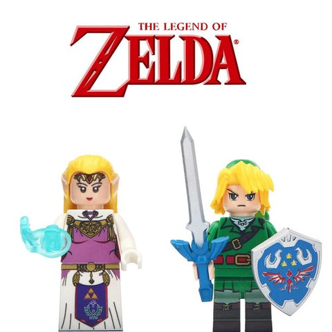 Building Blocks The Legend of Zelda 'Link and Princess Zelda' minifigures