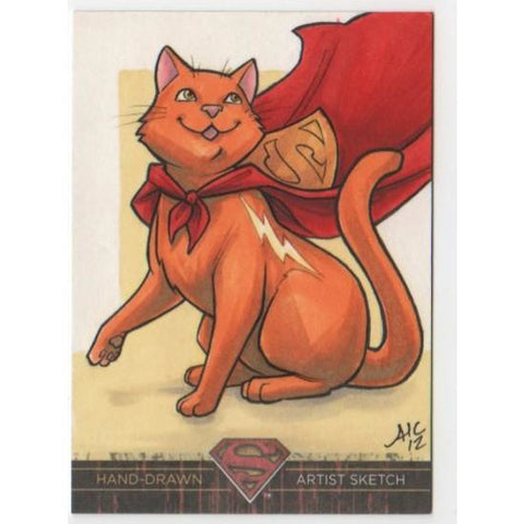 DC Comics 'Superman The Legend' artist sketch card