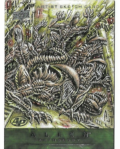 Alien Anthology artist PROOF sketch card by Anthony Tan