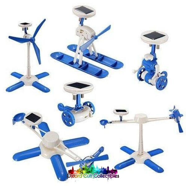 6 In 1 Educational Solar Powered Diy Toy Kit