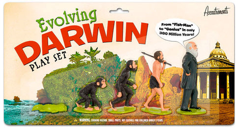 Evolving Darwin action figurine play set