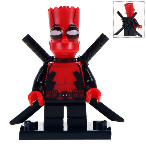Building Blocks 'Bart Simpson as Deadpool' minifigure