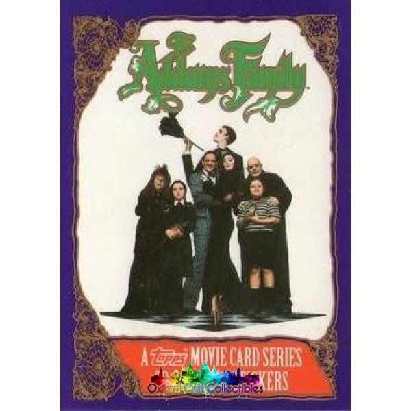 Addams Family Trading Card And Sticker Set