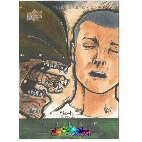 Alien Anthology Artist Proof Sketch Card By Barush Merling