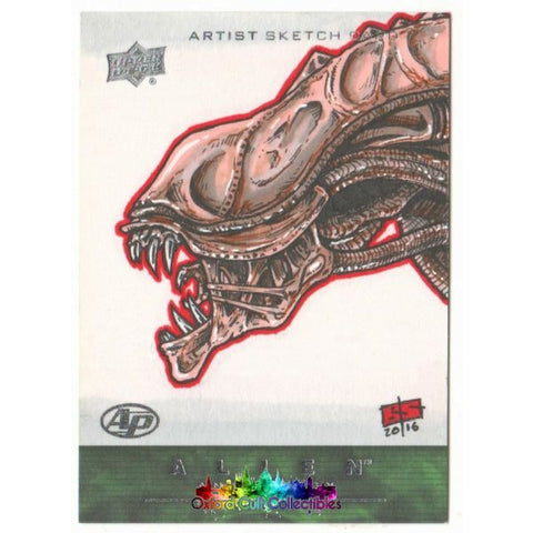 Alien Anthology Artist Proof Sketch Card By Bryan Silverbax
