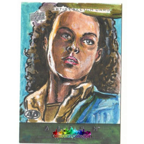 Alien Anthology Artist Proof Sketch Card By Dan Gorman