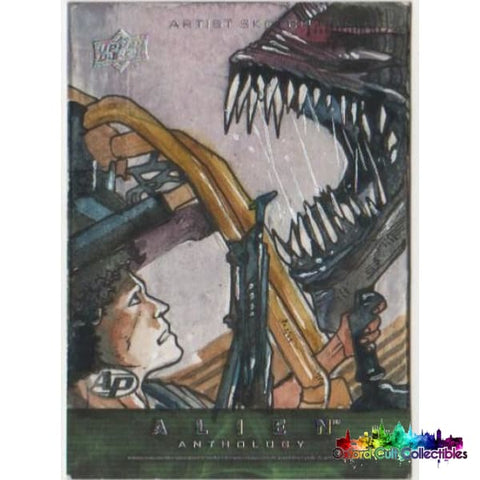 Alien Anthology Artist Proof Sketch Card By Mauro Fodra