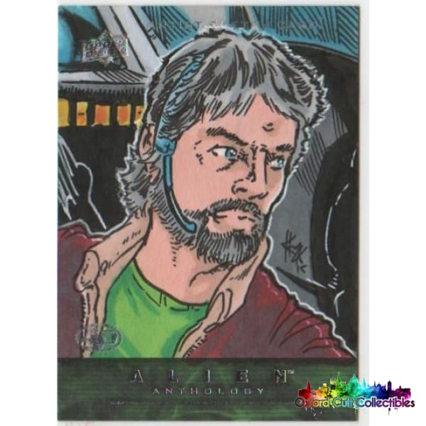 Alien Anthology Artist Proof Sketch Card Dallas By Elvin Hernandez