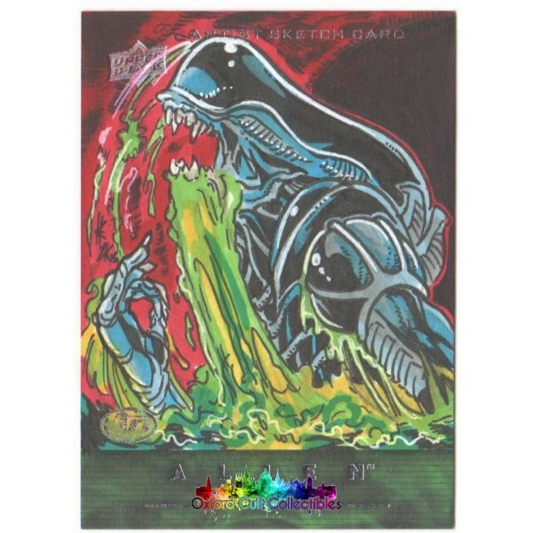 Alien Anthology Artist Proof Sketch Card Xenomorph By Elvin Hernandez