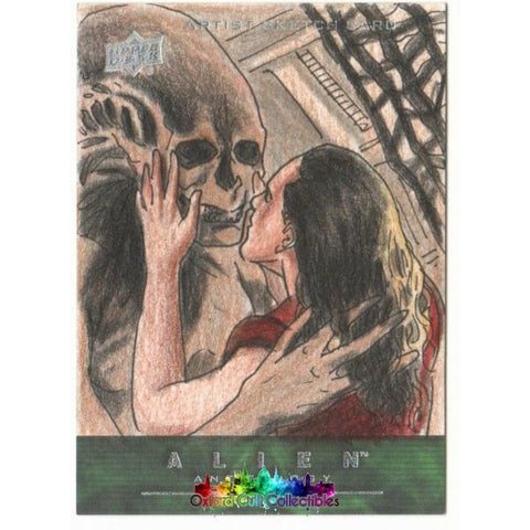 Alien Anthology Artist Sketch Card By Abdul Ghofur