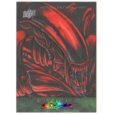 Alien Anthology Artist Sketch Card By Allen Geneta