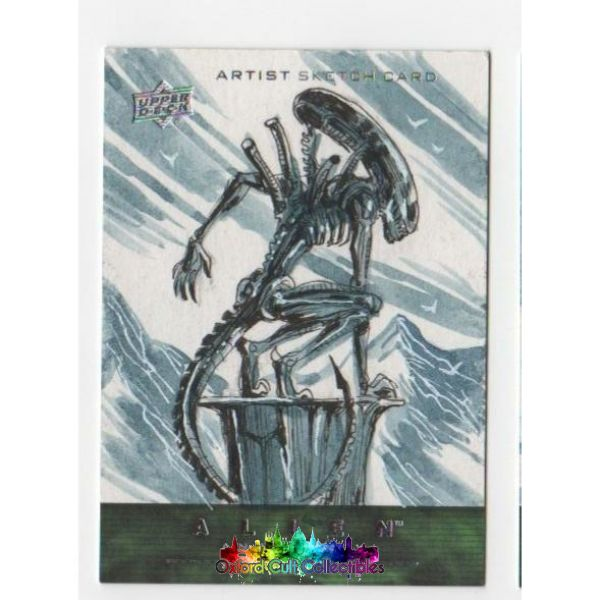Alien Anthology Artist Sketch Card By Benjo Camay