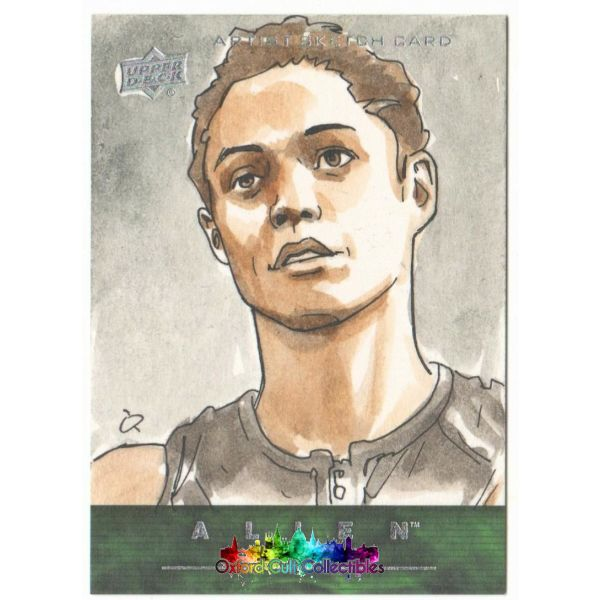 Alien Anthology Artist Sketch Card By Fabian Quintero