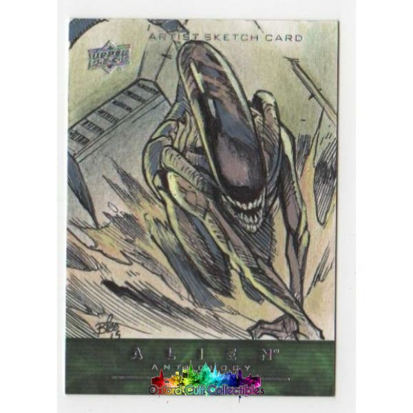 Alien Anthology Artist Sketch Card By Federico Blee