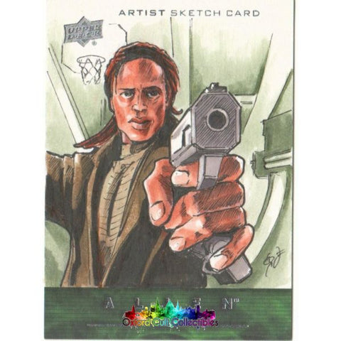 Alien Anthology Artist Sketch Card By George Vega