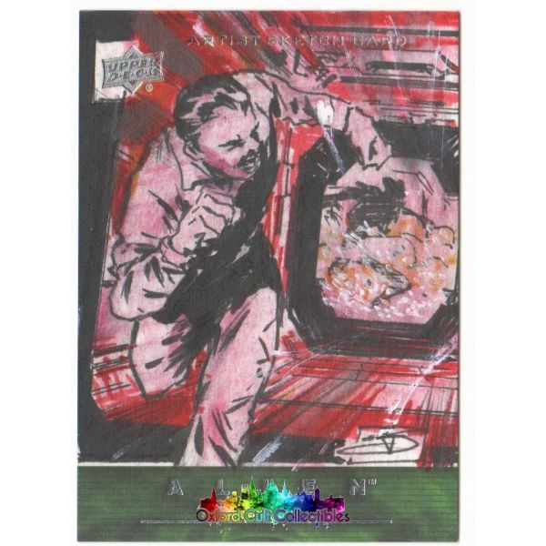 Alien Anthology Artist Sketch Card By J.j. Dzialowski