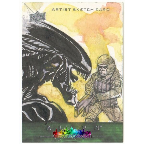 Alien Anthology Artist Sketch Card By Jade Isaig