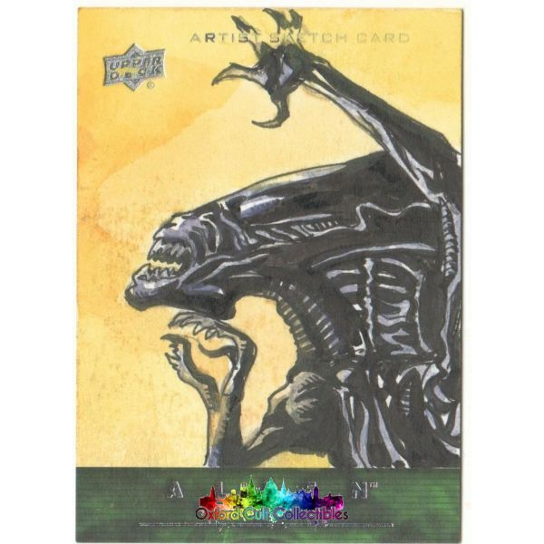 Alien Anthology Artist Sketch Card By Jezreel Jez Rojales