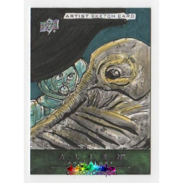 Alien Anthology Artist Sketch Card By Justin Castaneda