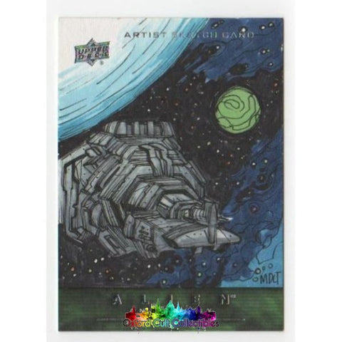 Alien Anthology Artist Sketch Card By Marco Carrillo