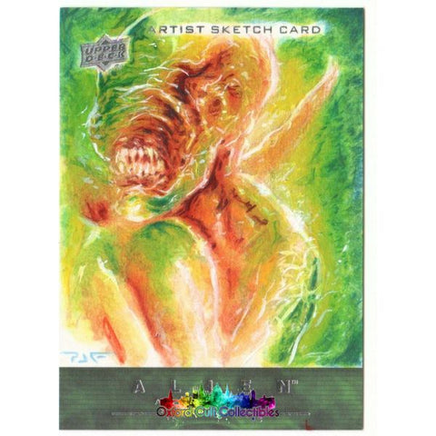 Alien Anthology Artist Sketch Card By Patricio Carrasco