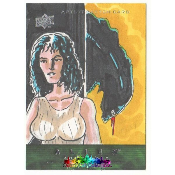 Alien Anthology Artist Sketch Card By Ruskin/ohlendorf